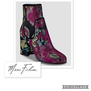 Marc fisher embroidered ankle boots